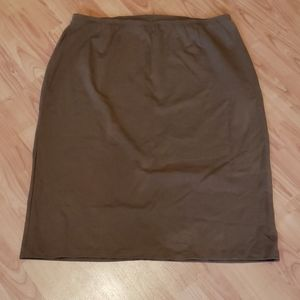 NEW Cato brown soft midi skirt plus size 22/24W